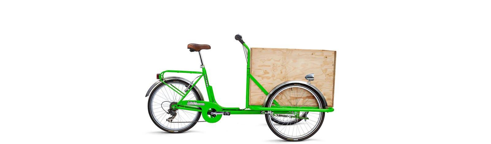 TrikeGo Cargobike- cassone - verde