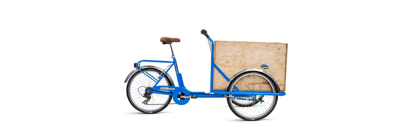 TrikeGo Cargobike- cassone - blu