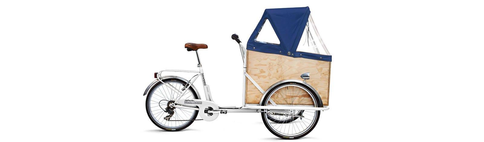 TrikeGo Cargobike- cassone - capottina chiusa - bianco