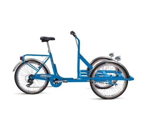 Cargobike colore blu