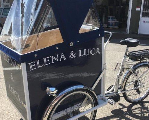 cargo bike con capote