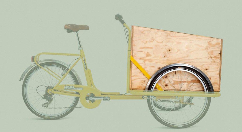 Box in Legno Base per Cargo Bike