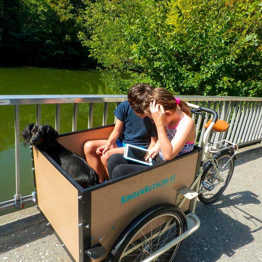 Cargo Bike TrikeGo Bambini Cane Tablet Kinder Kutsche Austria