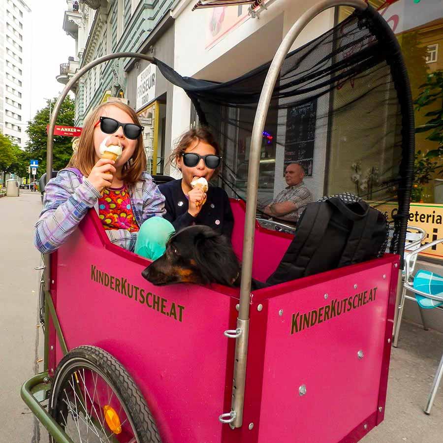 Cargo Bike TrikeGo Bambini Gelato Kinder Kutsche Austria