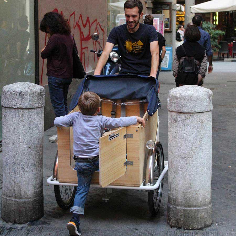 Cargo Bike TrikeGo Bambini Genitori Pisa