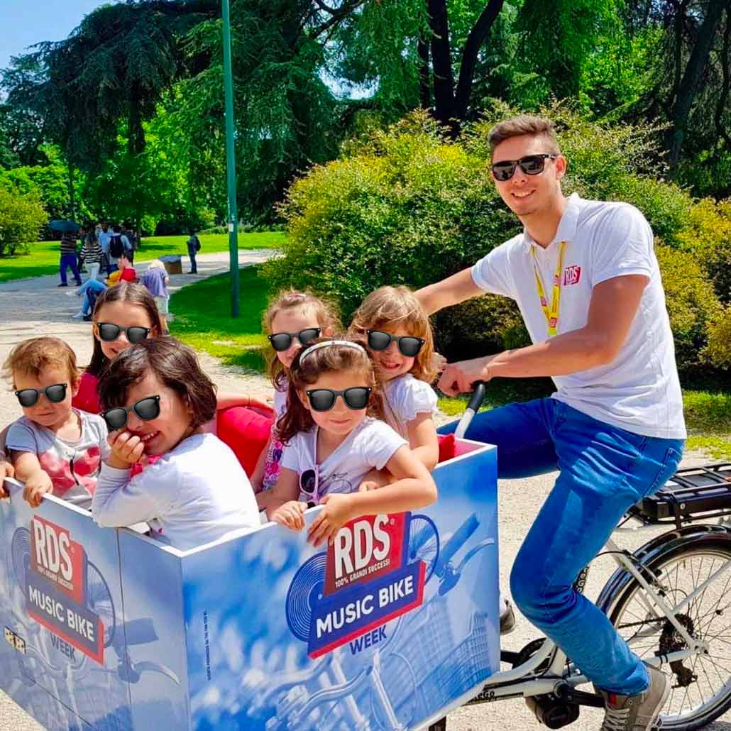 Cargo Bike TrikeGo Bambini RDS Radio Music Bike Week