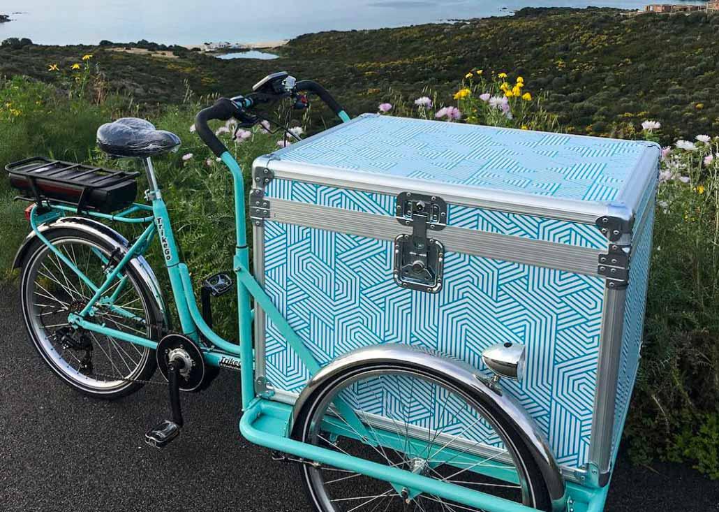 Cargo Bike TrikeGo Flight Case Pedalata Assistita Sardegna