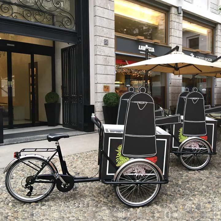 Presentazione Lavazza Cargobike con Box Personalizzato