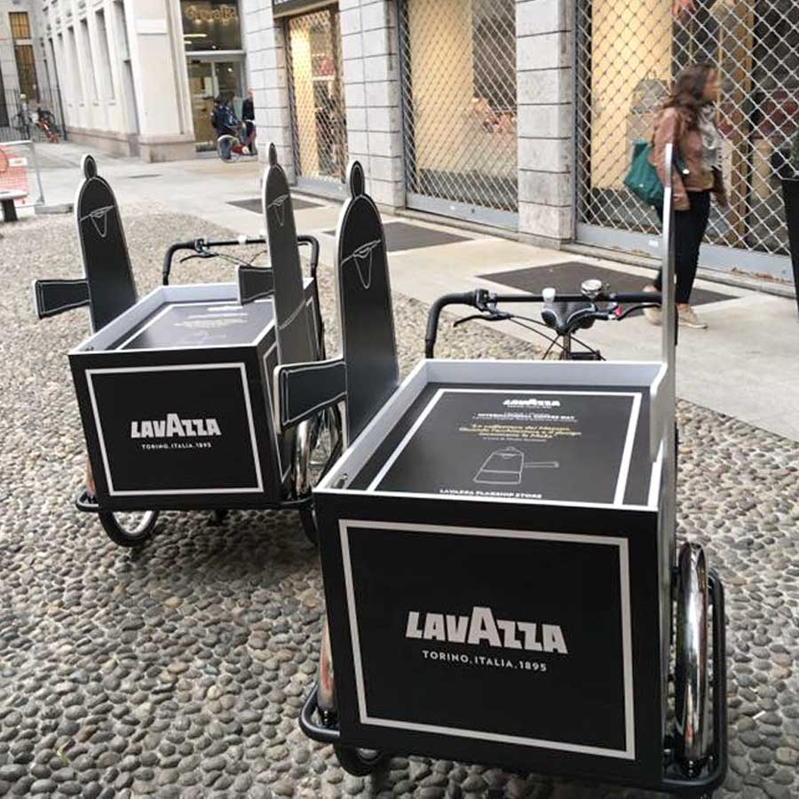 Presentazione con Cargo Bike per Lavazza