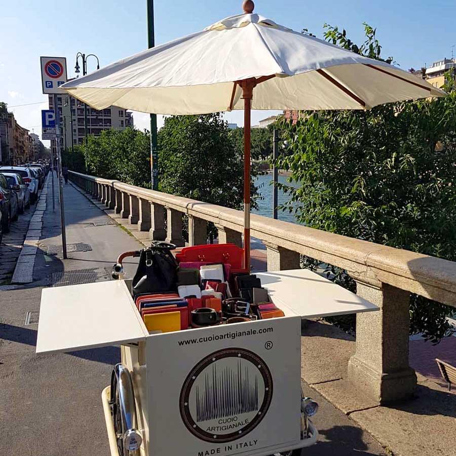 Cargo Bike TrikeGo Per Lavorare CUOIO ARTIGIANALE Made in Italy