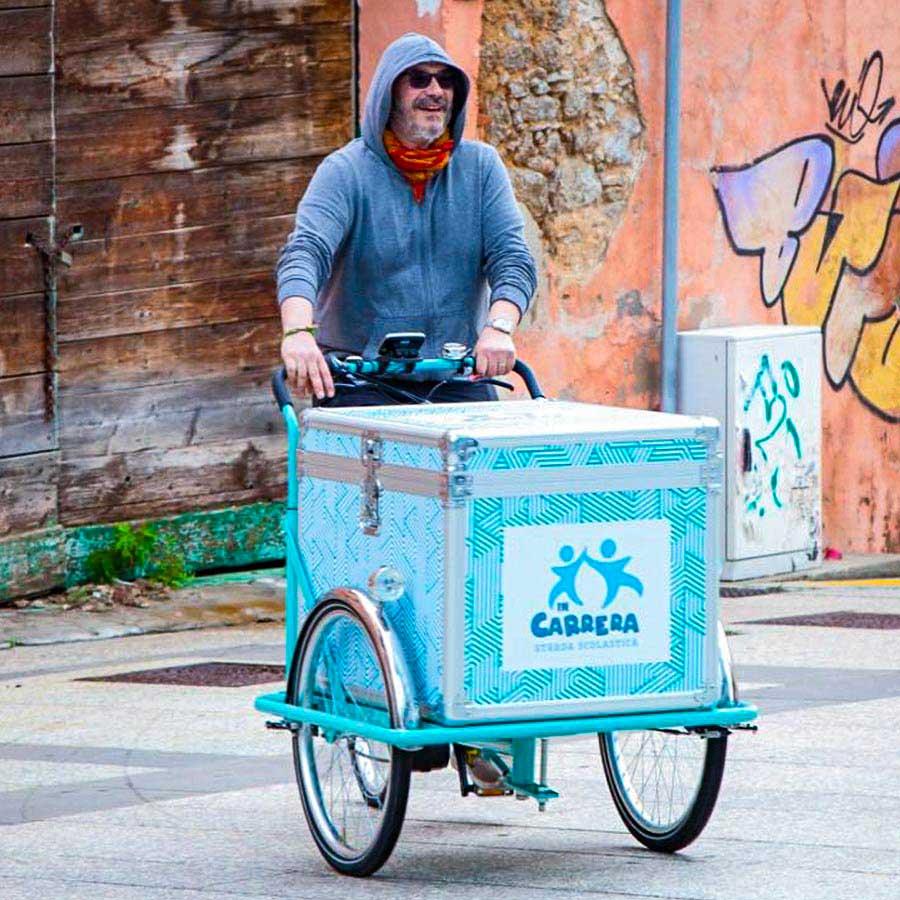 Cargo Bike TrikeGo Progetto IN CARRERA STRADA SCOLASTICA Olbia Sardegna