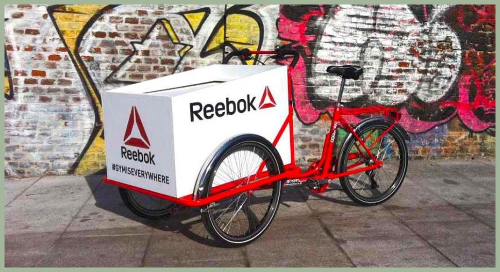 Cargo Bike per Evento Reebok - Box Personalizzato