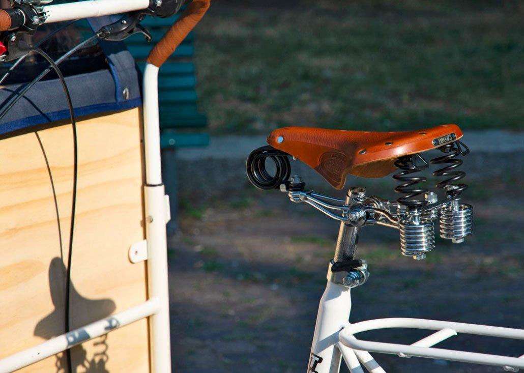 Cargo Bike TrikeGo Sella Particolare Dettaglio Stile Italia