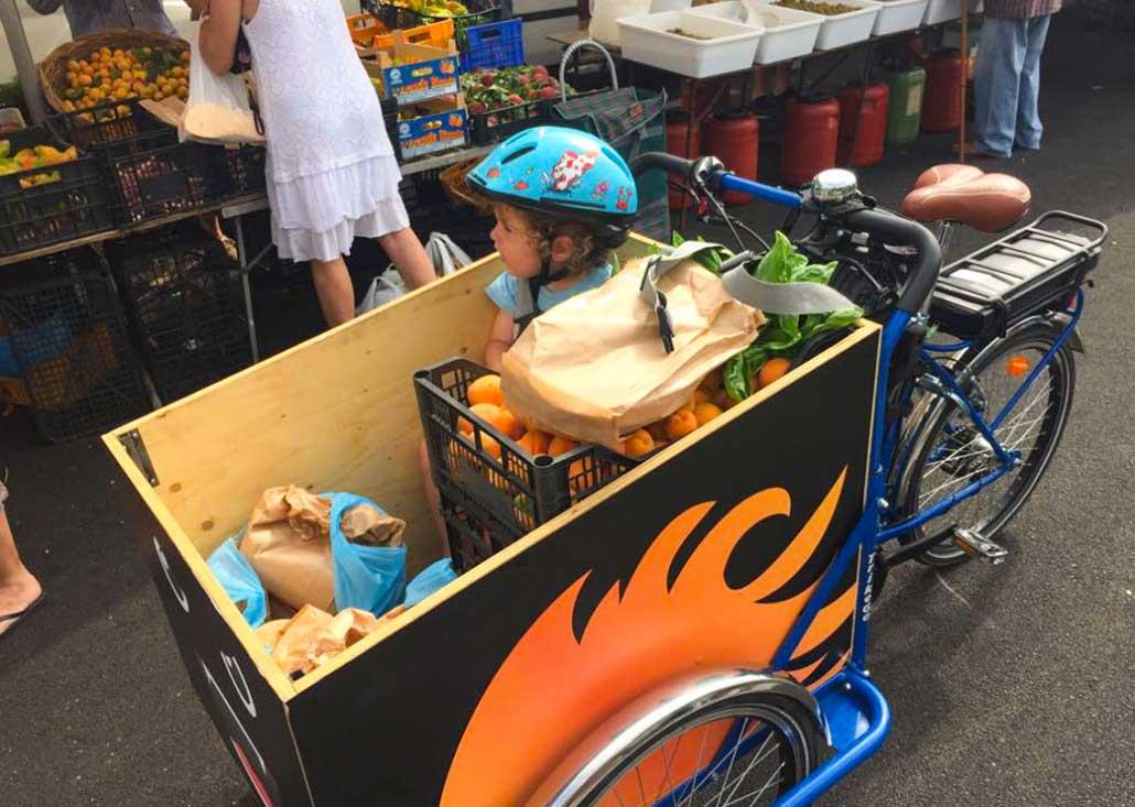 Cargo Bike TrikeGo Spesa Bambino Mercato Famiglia