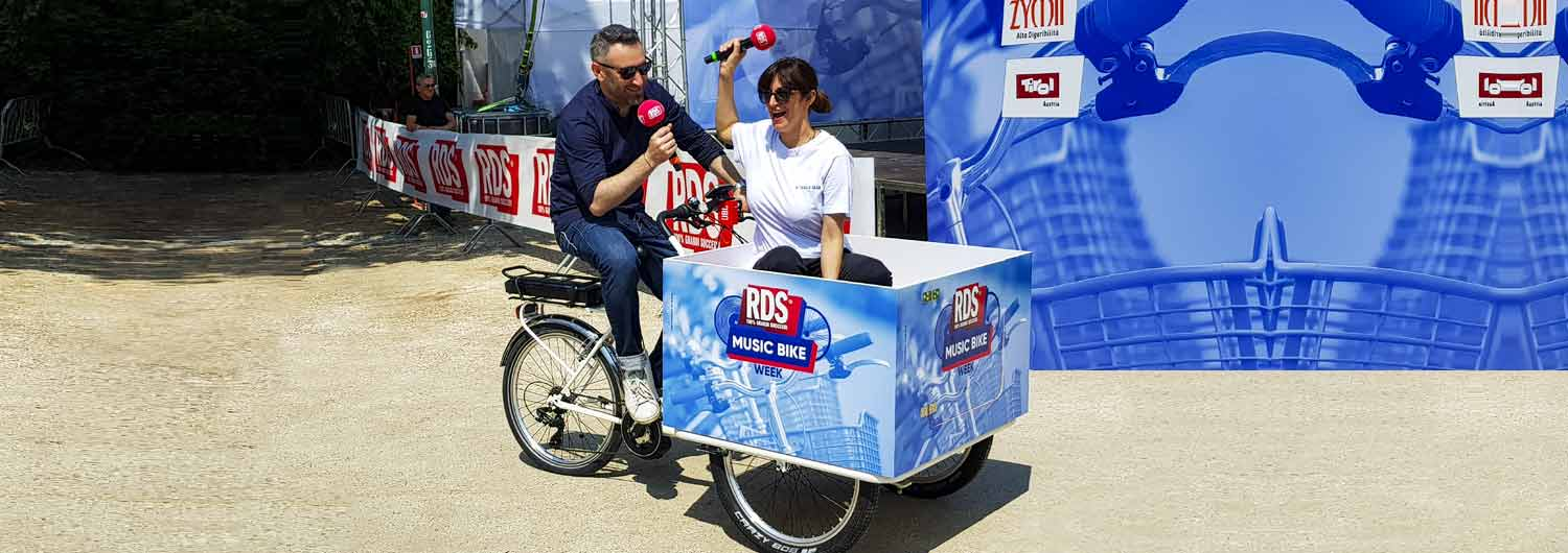 Cargo Bike TrikeGo Radio RDS Eventi