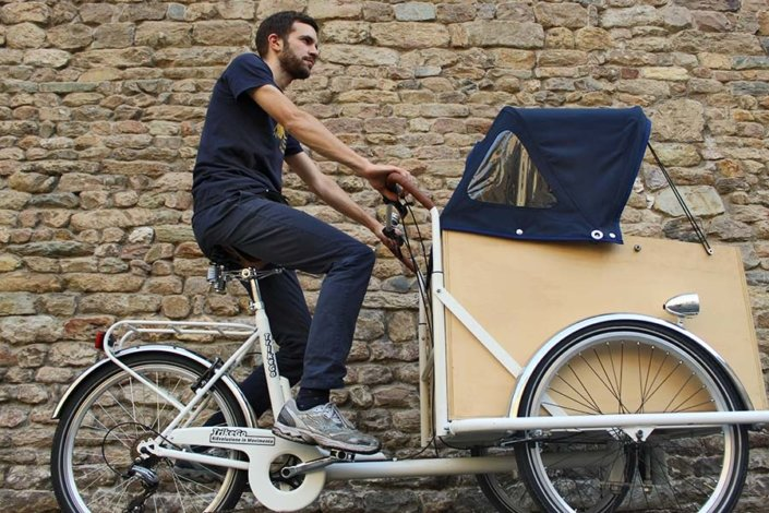 TrikeGo Cargo Bike Pisa Mura della città