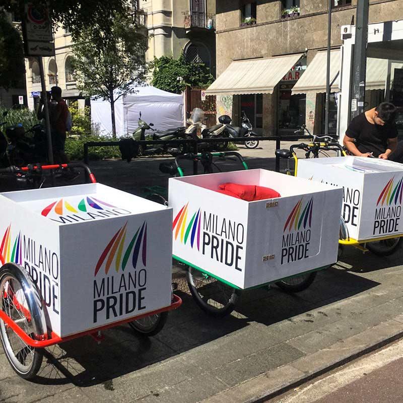 Milano Pride TrikeGo Partecipa con le sue Cargo Bike