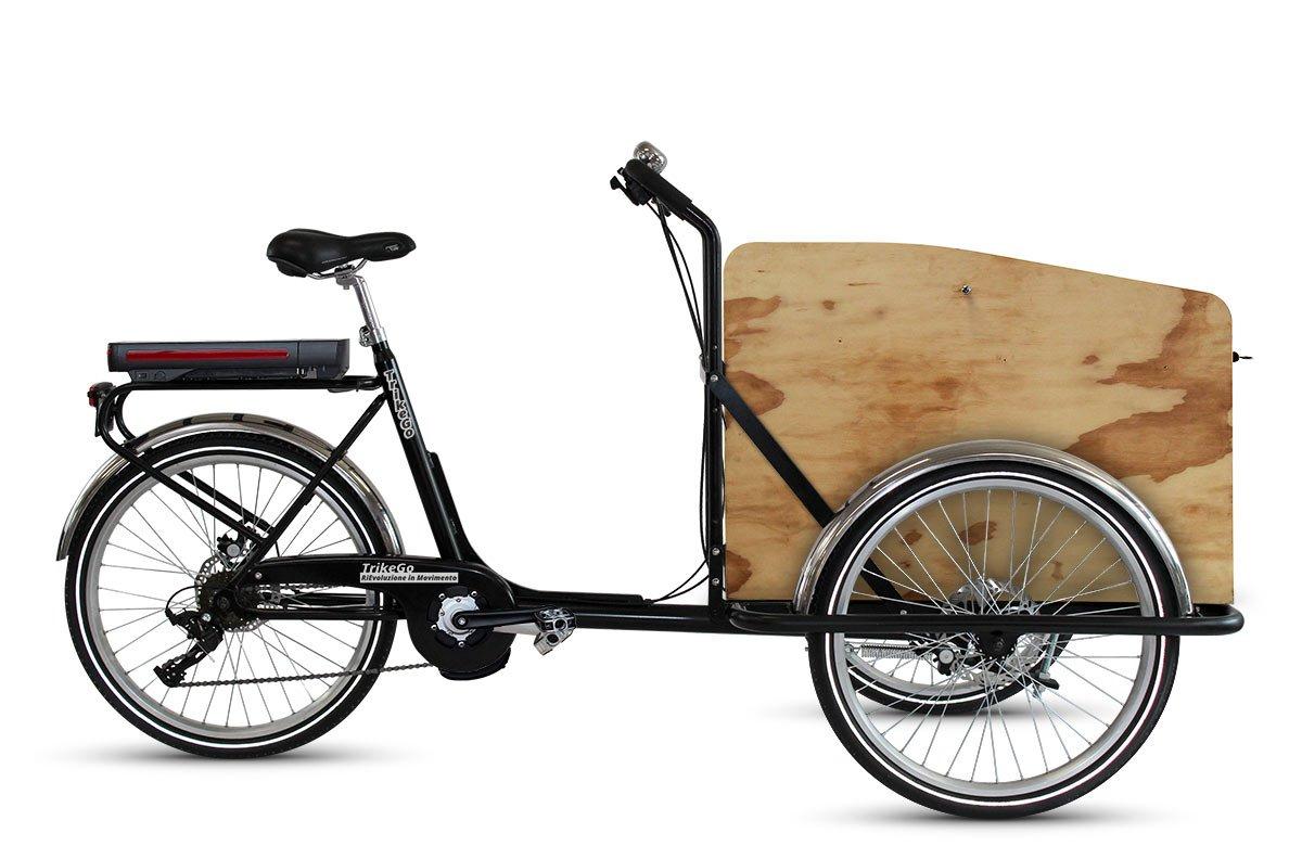 TrikeGo CARGO BIKE a Pedalata Assistita + Box Legno