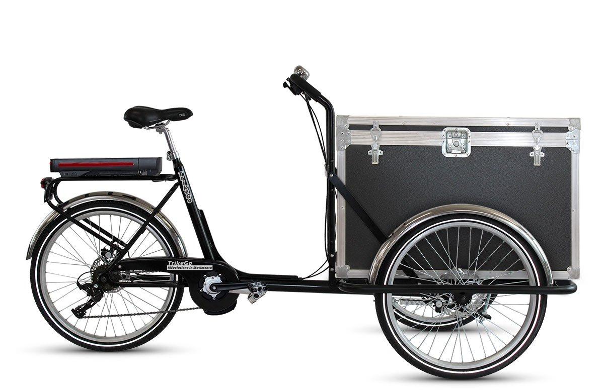 TrikeGo CARGO BIKE a Pedalata Assistita + Box Flightcase